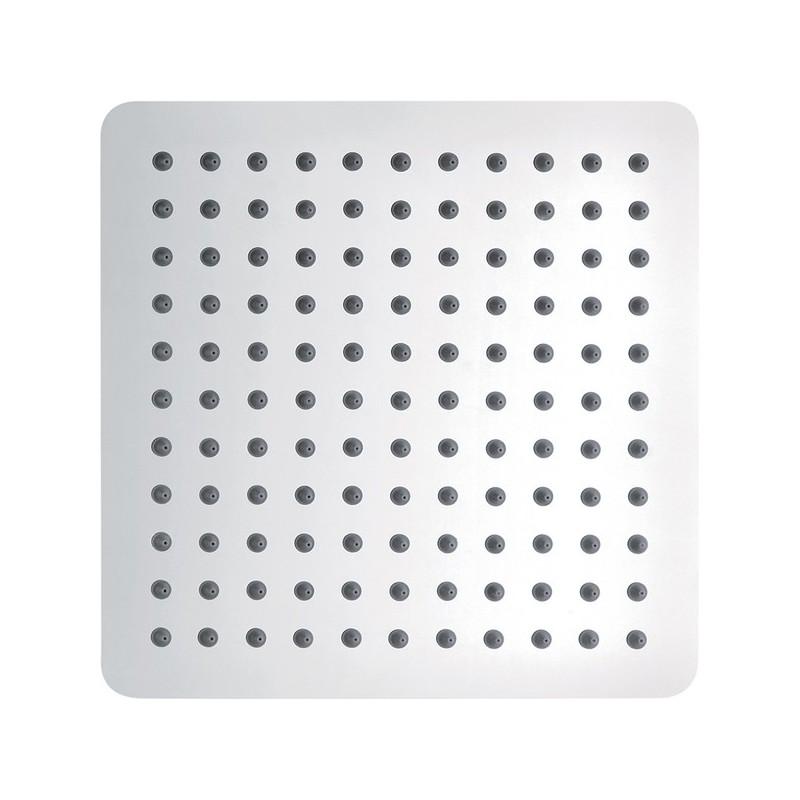 Pura Slimline Stainless Steel Square 250mm Shower Head