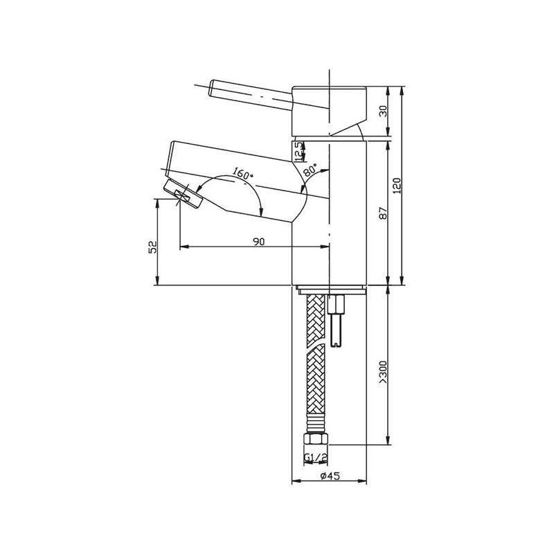 Pura Xcite Small Basin Mixer with Clicker Waste