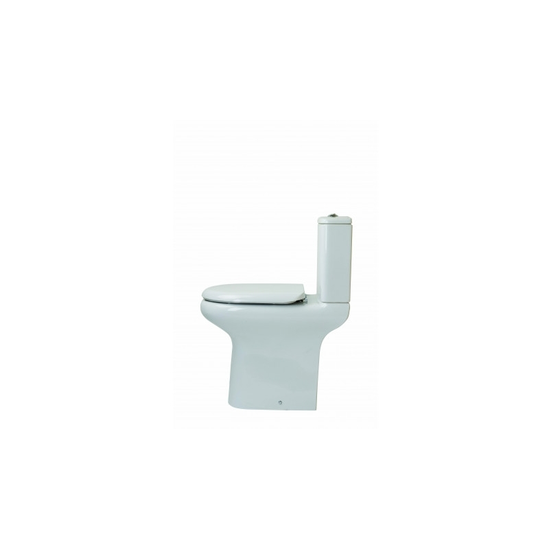RAK Compact Deluxe 45cm High Back To Wall WC Pack with Seat