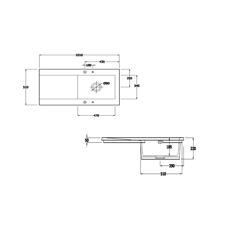RAK Gourmet Dream Sink 2 with Single Bowl & Single Drainer