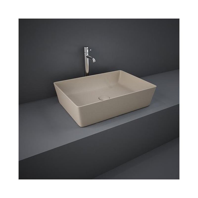 RAK Feeling 50cm Rectangular Counter Wash Basin Matt Cappuccino