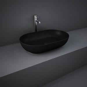 RAK Feeling 55cm Oval Countertop Wash Basin Matt Black