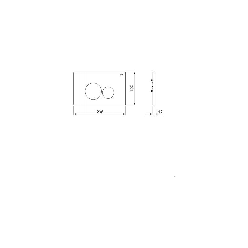 RAK Polished Chrome Flush Plate with Rectangular Buttons