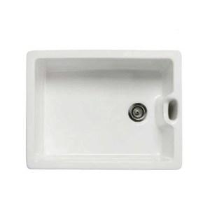 RAK Belfast Style Gourmet Sink 8 with Weir Overflow Alpine White