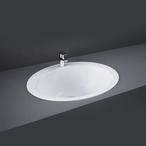 RAK Jessica 53cm Over Counter Wash Basin 1 Taphole