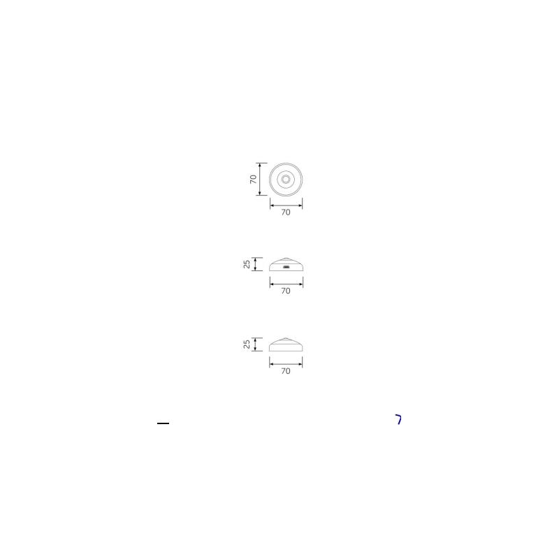 RAK Joy Motion Sensor LED Light (USB Recharge) Stainless Steel