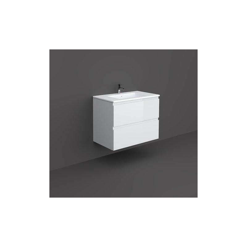 RAK Joy Wall Hung Vanity Unit 80cm Pure White