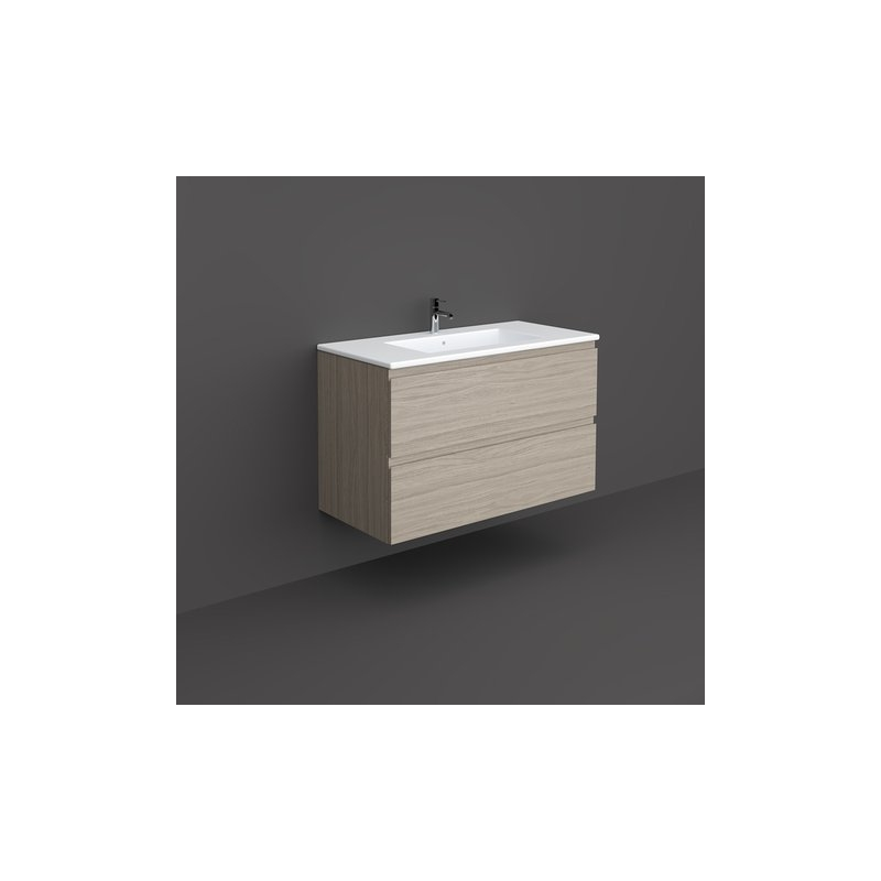 RAK Joy Wall Hung Vanity Unit 100cm Grey Elm
