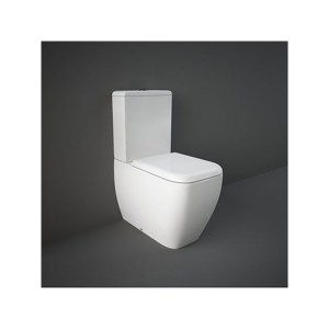 RAK Metropolitan Rimless Closed Back WC Pan, Cistern & Seat