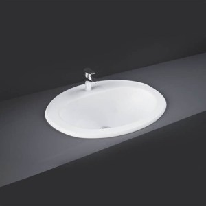 RAK Mira 56cm Over Counter Wash Basin 2 Tapholes