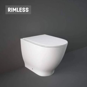 RAK Moon Rimless Back To Wall Pan with Soft Close Seat