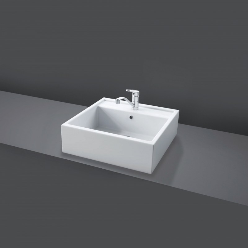 RAK Nova 46cm Sit On Wash Basin (No Tap Hole)
