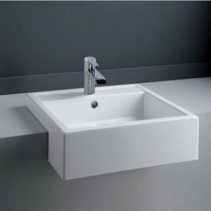 RAK Nova 46cm Semi Recessed Wash Basin 1 Taphole
