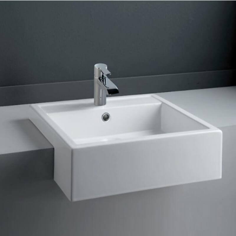 RAK Nova 46cm Semi Recessed Wash Basin 1 Taphole