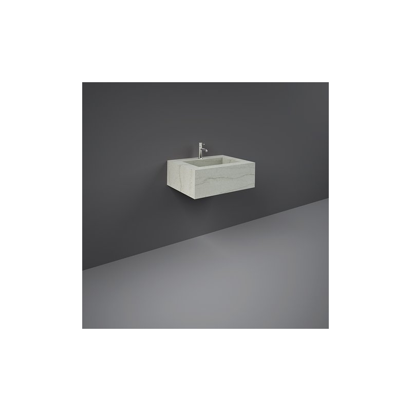 RAK Precious Wall Mounted Wash Basin 1 Hole 63cm Macaubus