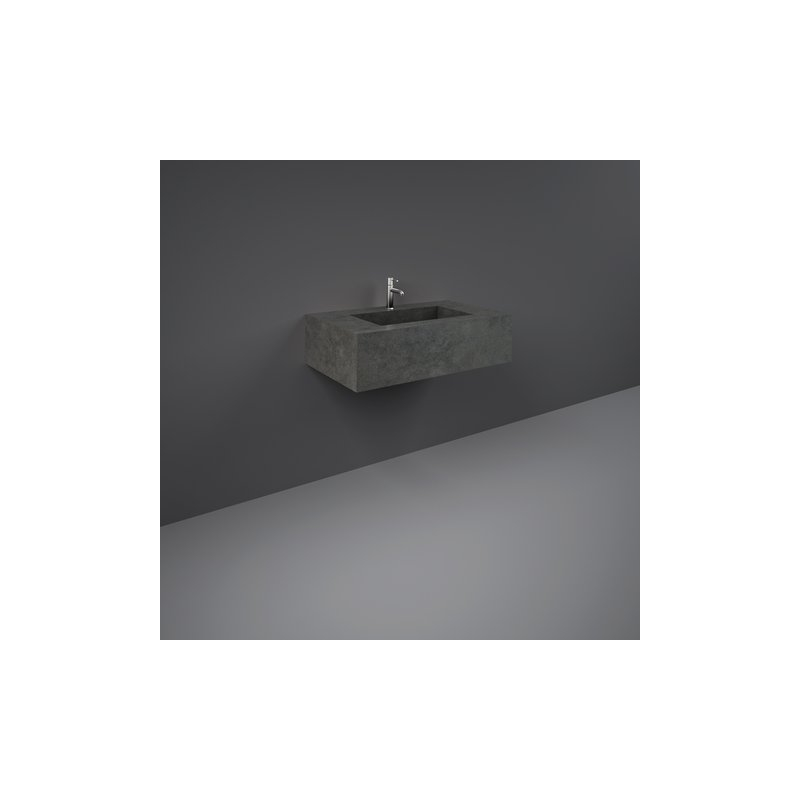 RAK Precious Wall Mounted Wash Basin 1 Hole 83cm Behind Grey