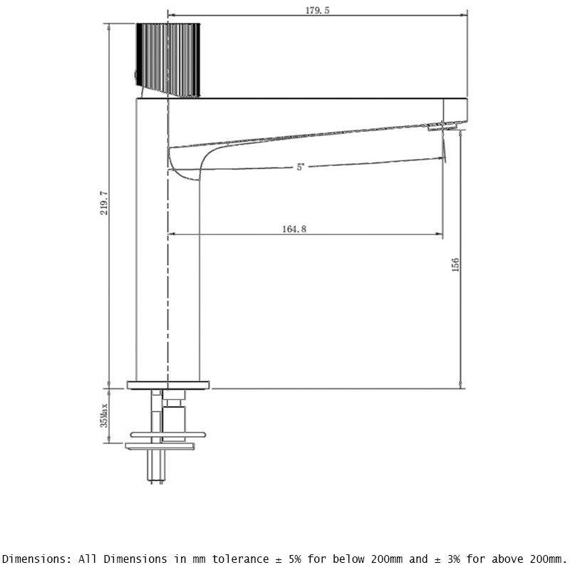 RAK Amalfi Mid Height Basin Mixer Chrome