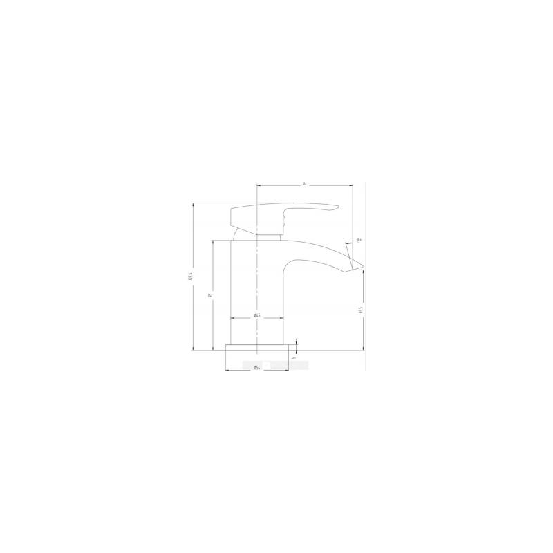 RAK Curve Mini Mono Basin Mixer with Clicker Waste