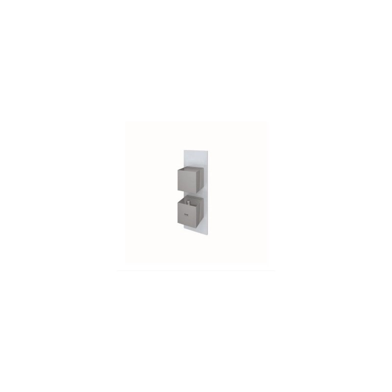 RAK Feeling Square Single Outlet Thermostatic Shower Valve Grey