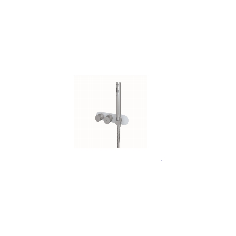 RAK Feeling Round Horizontal Dual Outlet Valve with Wall Outlet Grey