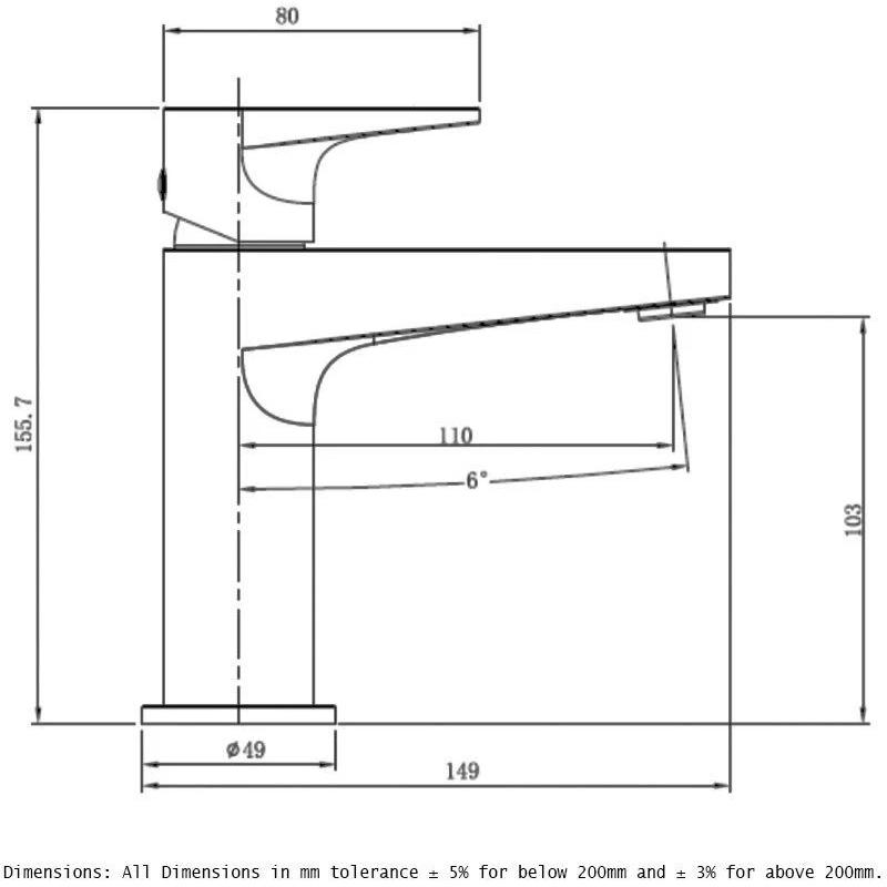 RAK Ischia Standard Basin Mixer Brushed Nickel