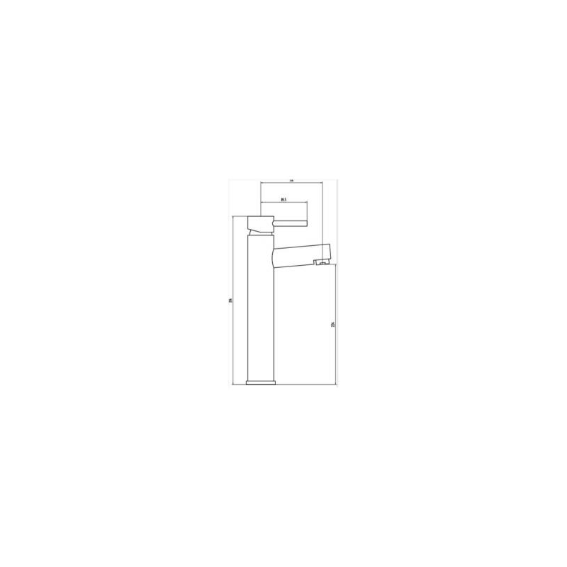 RAK Prima Tall Mono Basin Mixer (No Waste)