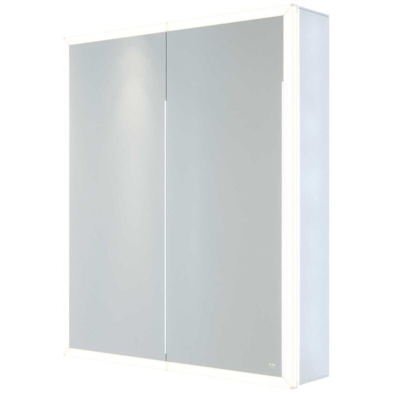 RAK Pisces 600x700mm Illuminated Mirrored Cabinet
