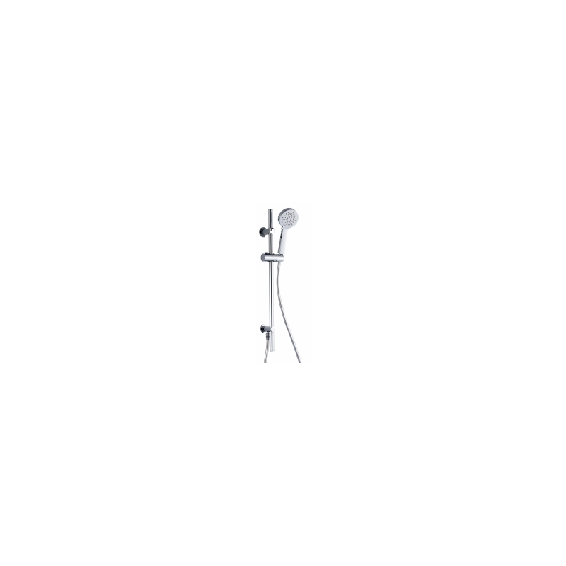 RAK Square Slide Rail Kit with 3 Function Head & Wall Outlet Chrome