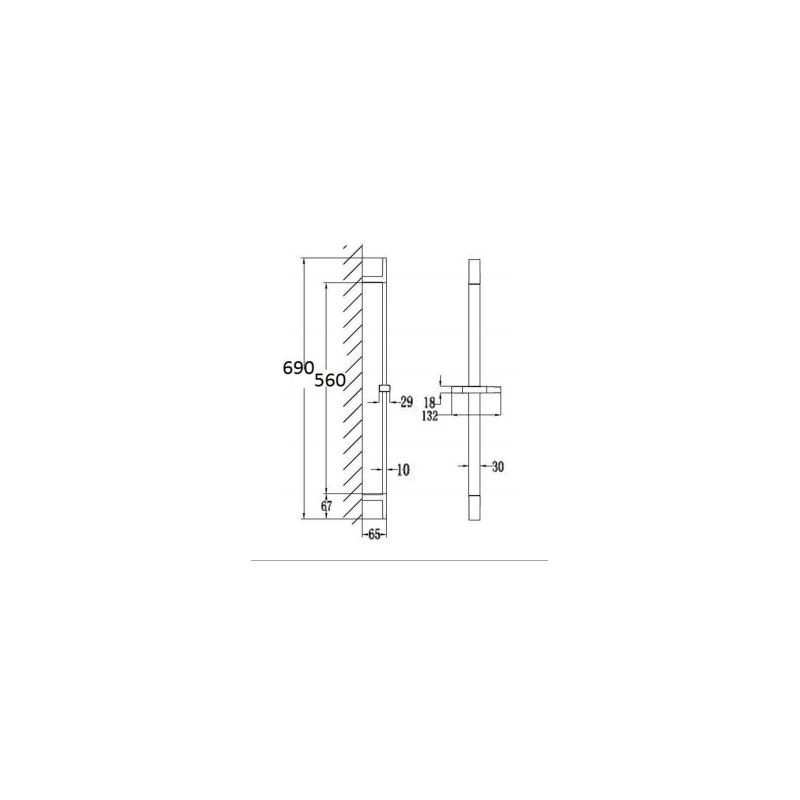 RAK Square Slide Rail Kit with Single Function Head