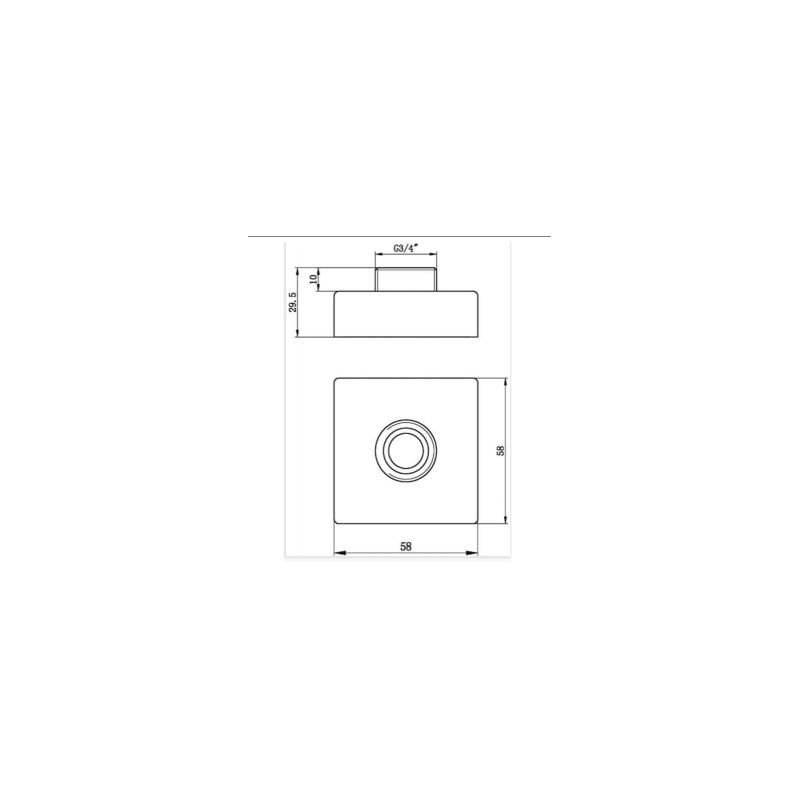 RAK Exposed Square Shower Bar Mixer Easy Fitting Kit (Pair)