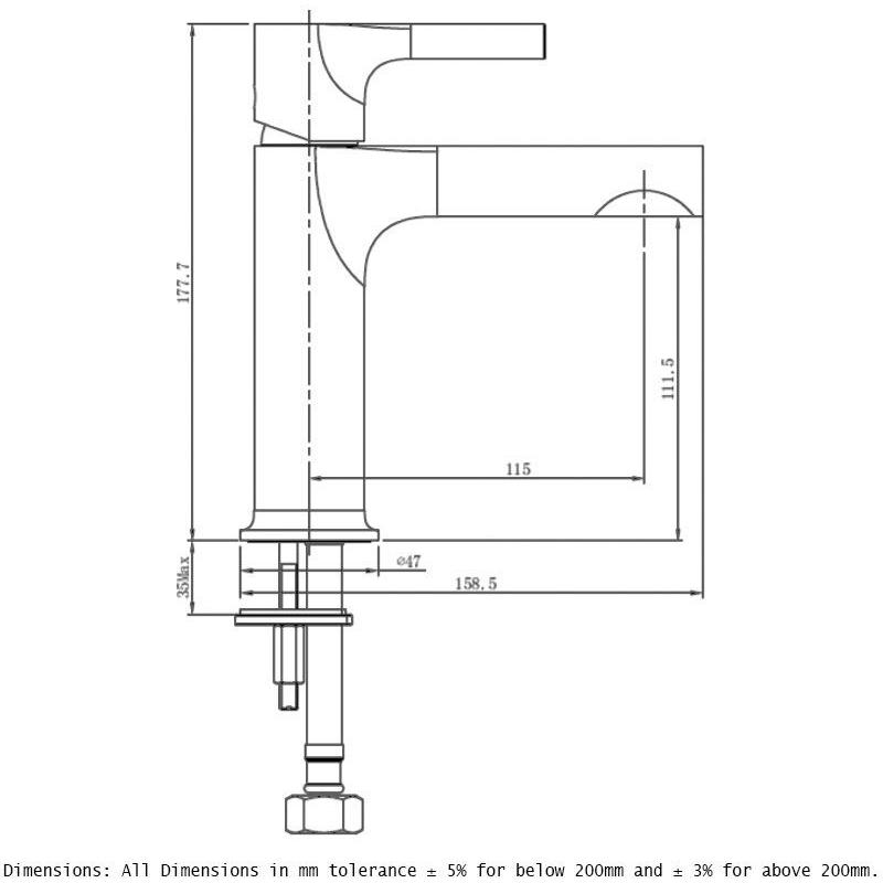 RAK Sorrento Standard Basin Mixer Chrome