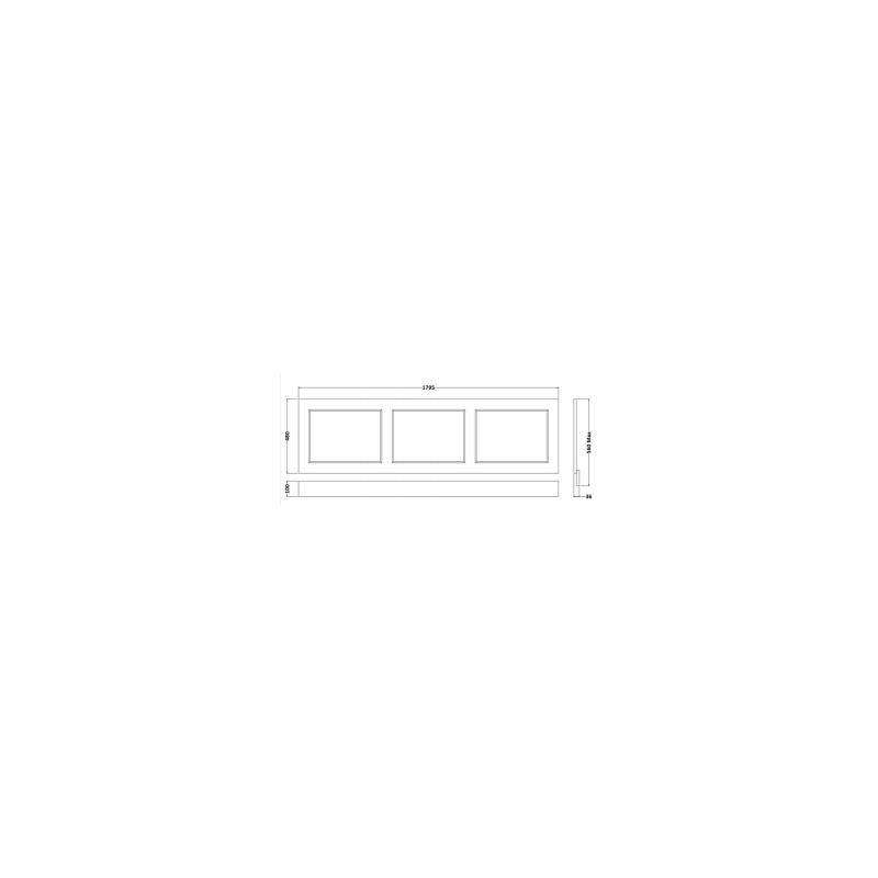 RAK Washington 1700mm Bath Front Panel Cappucino