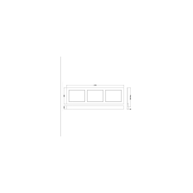 RAK Washington 1800mm Bath Front Panel Greige