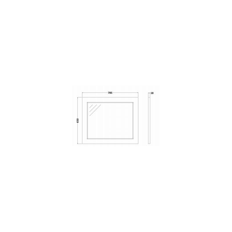 RAK Washington 800mm Flat Mirror Grey