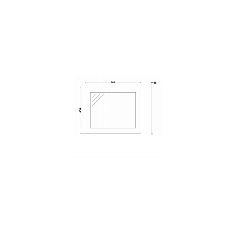 RAK Washington 800mm Flat Mirror Greige