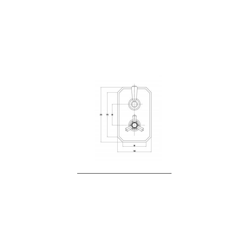 RAK Washington Dual Outlet Thermostatic Shower Valve