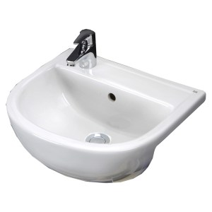 RAK Compact 450mm Semi-Recess Basin 1 Tap Hole LH