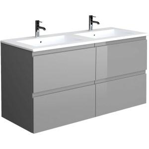 RAK Joy Urban Grey 1210mm Wall Hung Vanity Unit & Basin