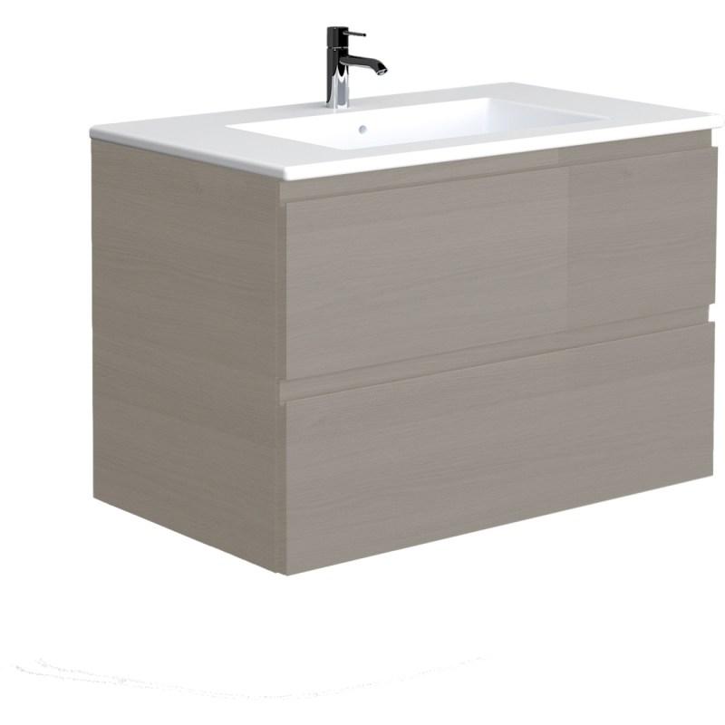 RAK Joy Grey Elm 810mm Wall Hung Vanity Unit & Basin