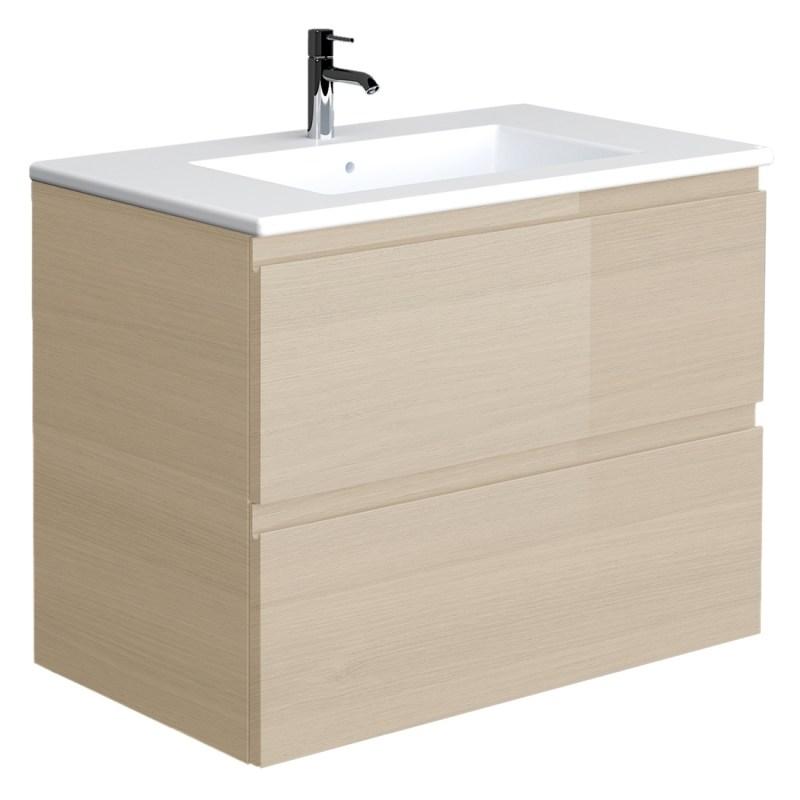 RAK Joy Oak 610mm Wall Hung Vanity Unit & Basin