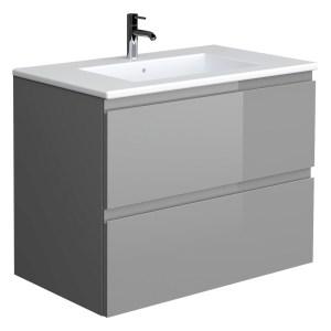 RAK Joy Urban Grey 610mm Wall Hung Vanity Unit & Basin