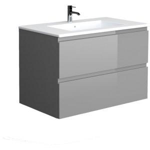 RAK Joy Urban Grey 810mm Wall Hung Vanity Unit & Basin