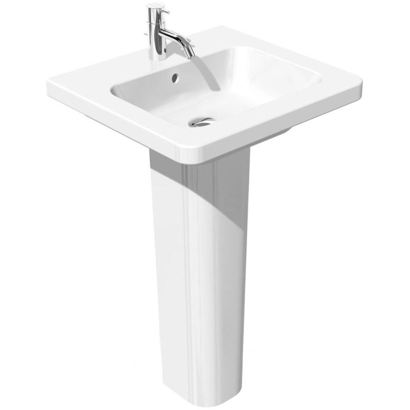 RAK Resort 550mm Slimline Basin with Full Pedestal