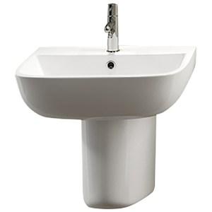 RAK Series 600 1 Tap Hole Basin & Semi Pedestal