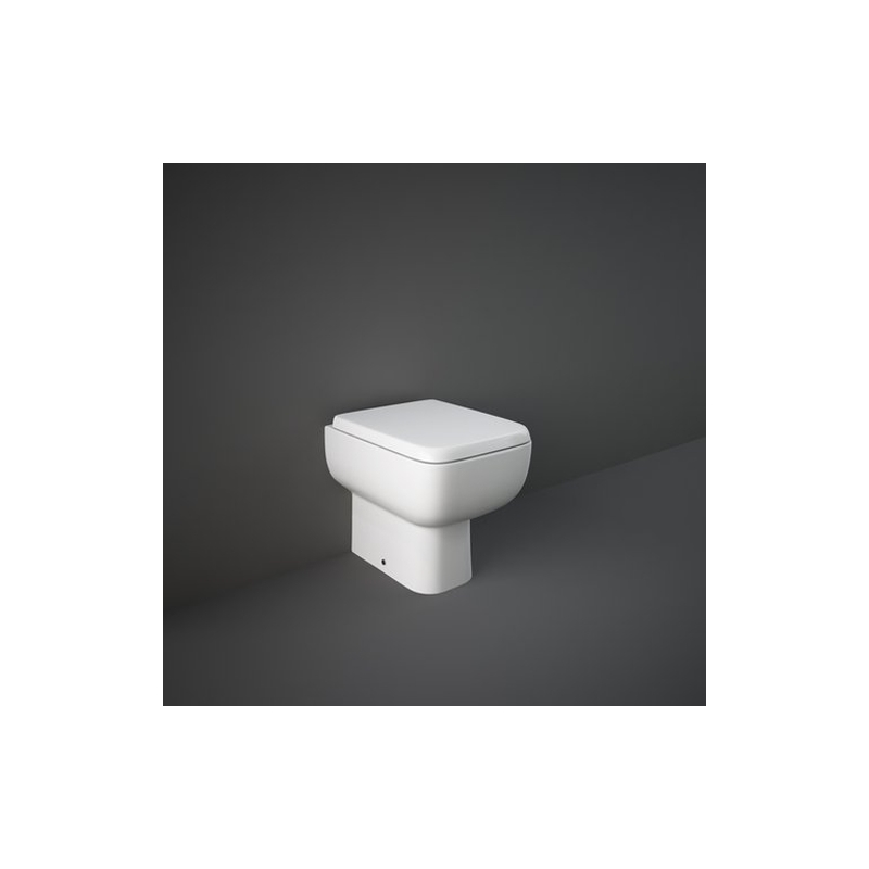RAK Series 600 Back To Wall Pan with Slimline Sandwich Seat