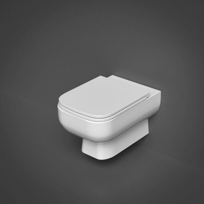 RAK Series 600 Rimless Wall Hung Pan with Slim Sandwich Seat