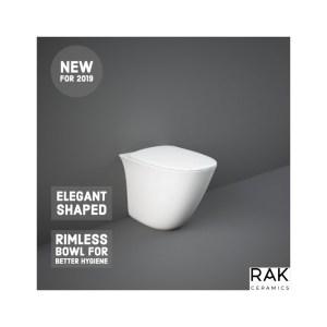 RAK Sensation Back To Wall Pan with Soft Close Seat