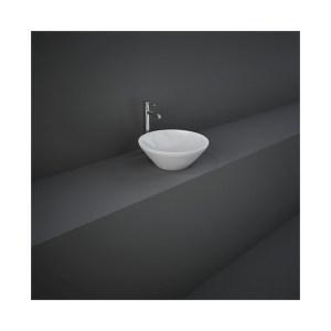 RAK Variant Round Counter Top Basin 36cm Alpine White