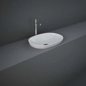 RAK Variant Oval Drop-In Wash Basin 50cm Alpine White