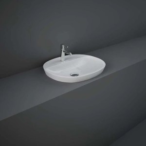 RAK Variant Oval Drop-In Wash Basin 50cm 1 Tap Hole